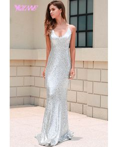 Sexy Off Shoulder Sleeveless Summer Dresses Sequin Backless Cross Maxi Dress Stunning Prom Dresses, Summer Dresses, Formal Dresses, Wedding Dresses, Sequin Dress, Backless, Sequins, Sexy, Warehouses