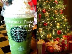 Looking for a Frappuccino that looks and tastes like a little bit of Christmas? Find out the recipe and how to order one here. Starbucks Secret Menu Drinks, Starbucks Recipes, Coffee Recipes, Drink Recipes, Fondue Recipes, Alcohol Recipes, Copycat Recipes, Frappuccino Recipe, Starbucks Frappuccino