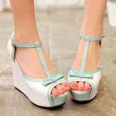 Buy 'Pangmama – Bow-Accent Wedge Sandals' with Free International Shipping at YesStyle.com. Browse and shop for thousands of Asian fashion items from China and more!
