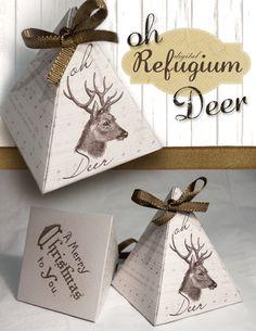 printable Triangle Box oh Deer / INSTANT by digitalRefugium