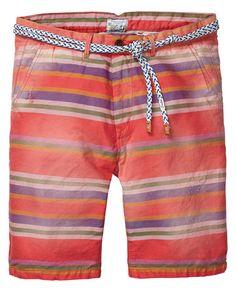 "Gestreifte ""Yarn-dye""-Chino-Shorts"