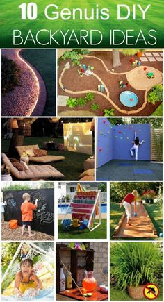 10 Genius DIY Backyard Ideas Chalkboard wall, rope light, lemongrass mosquito repellent