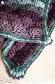 Vintage Vineyard Blanket crochet pattern by Susan Carlson of Felted Button