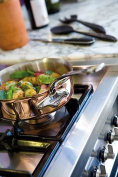 We love this top-of-the line copper cookware from Mauviel. It's a definite splurge, but the craftsmanship is second to none.