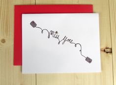 I Miss You Card, Thinking of You Card. $4.00, via Etsy.