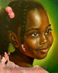 """""""Jolie"""" Oil on canvas portrait Order yours today! African American Artist, American Artists, African Art, Afro Hair Design, Haitian Art, Oil Painting Pictures, African Royalty, Black Art Pictures, Pastel Portraits"""