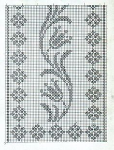 Crochet on Stylowi. Cross Stitch Bookmarks, Cross Stitch Borders, Cross Stitch Designs, Cross Stitching, Cross Stitch Embroidery, Cross Stitch Patterns, Crochet Motifs, Crochet Flower Patterns, Crochet Chart
