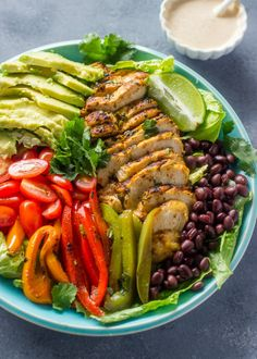 Cilantro Lime chicken Salad with skinny chipotle Ranch Dressing | Gimme Delicious