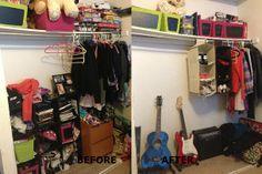 Teenagers closet www.doubletakeorganizing.ca