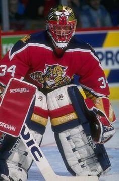 John Vanbiesbrouck - Florida Panthers Goalie Gear, Goalie Mask, Hockey Goalie, Hockey Games, Field Hockey, Hockey Players, Ice Hockey, Panthers Team, Florida Panthers