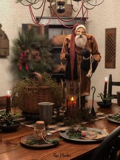 arnett santa santa with lamb primitive christmas decorating