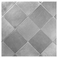"""Complete Tile Collection Alumenia Tile Series, Aluminum - 4"""" x 4"""" Blend Tile, MI#: 230-A1-706-051, Color: Aluminum"""