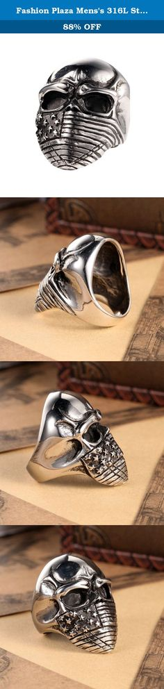Fashion Plaza Mens's 316L Stainless Steel Devil Mummy Head Ring, Silver and Black Sz 7-15 (15). Material: 316L Stainless Steel, Vintage Handmade, Well Polished Finish. Ring Surface: 3CM*4CM, About 1.2Inch * 1.6Inch. It will Never Get Fade/Tarnished. Silver Black Celtic Gothic Punk Fashion Trendy Design. Excellent Quality, Comfort Fit and Good Price. Availabe in Size 7 8 9 10 11 12 13, Perfect Gift for Your Friends,and Familry.