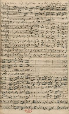 J.S. Bach (1685-1750) - Sinfonia from the Easter Oratorio - BWV 249 (c.1725) #bach #manuscript