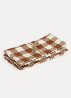GINGHAM - Nutmeg Napkins - Heather Taylor Home Heather Taylor, Gingham, Hand Weaving, Napkins, Artisan, Cobalt, Cotton, Live, Table