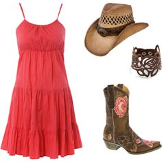 boots with a sundress - so cute