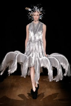 Iris van Herpen....What is this? Sometimes I think a designer has a nightmare and then jumps right up and makes it.