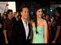 Tiger Shroff & Kriti Sanon at Britannia Filmfare Awards 2014.