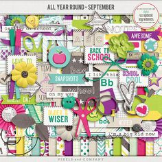 All Year Round September by Digital Scrapbook Ingredients Custom Photo Albums, Personalized Photo Albums, 1st Day Of School, School Notes, All Year Round, Big Kids, Digital Scrapbooking, September, Canvas Prints