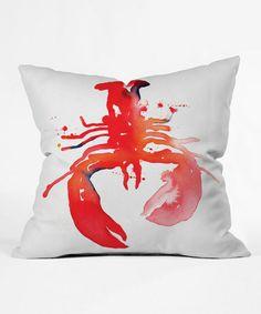CMY Karen Red Lobster Throw Pillow