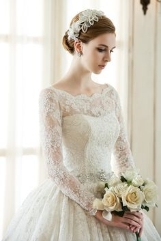 Wedding Dresses Lace Fit And Flare 49 trendy dress wedding simple romantic.Wedding Dresses Lace Fit And Flare 49 trendy dress wedding simple romantic Princess Wedding Dresses, Modest Wedding Dresses, Wedding Bridesmaid Dresses, Bridal Dresses, Dress Wedding, Lace Dress, Wedding Simple, Trendy Wedding, Wedding Ideas