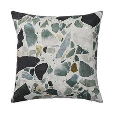 Discover the Bloomingville Terazzo Cushion - Dark Grey at Amara