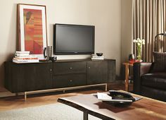 Genial Hudson Media Cabinets With Steel Base