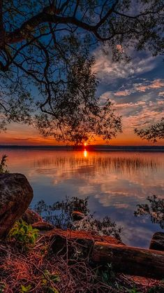 Sunset at Sørup in Esrum, North Zealand, Denmark • photo: Frank Jensen on 500px