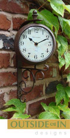 Nice Garden Clock U0026 Thermometer