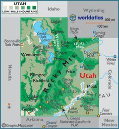 Utah large color map