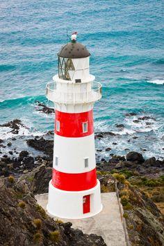 Lighthouse at Cape Palliser. #NewZealand