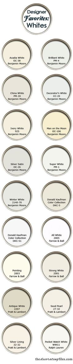 White Paint Colors: Favorite Picks from Designers