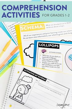 Reading comprehension strategies can be fun and engaging with these hands on activities and compelling passages. Students in first and second grade classrooms can remember improve their reading comprehension with these worksheets and anchor charts.
