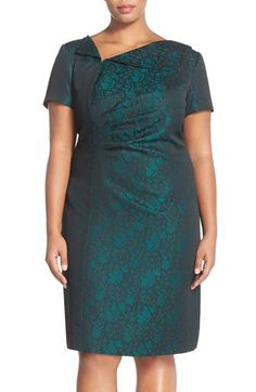 Tahari Jacquard Sheath Dress (Plus Size) available at #Nordstrom
