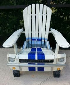 Adirondack Car Chairs - SO VERY COOL