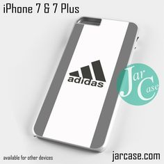 silver sport adidas Phone case for iPhone 7 and 7 Plus
