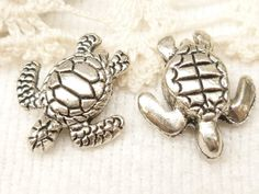 Life-like Sea Turtle Spacer Beads 3D Antique by BellasBeadHabit