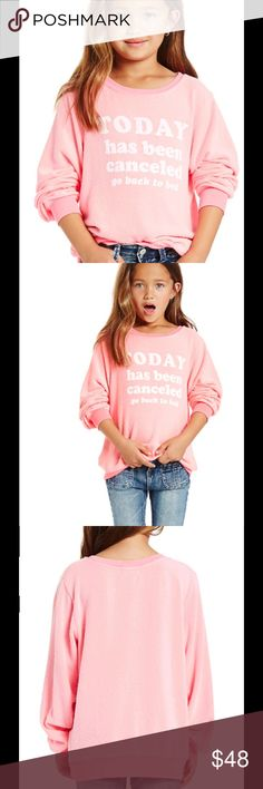 """Authentic Wildfox Sweatshirt Coming Soon This super soft and cozy Wildfox sweatshirt features a """" Today has been cancelled, go back to bed"""" front graphic. Pull on style. 47% polyester , 47% rayon, 6% spandex. More pics and specs upon arrival. Wildfox Shirts & Tops Sweatshirts & Hoodies"""