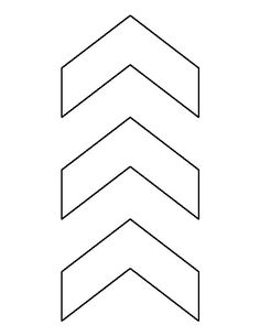 Image result for chevron arrow pattern template