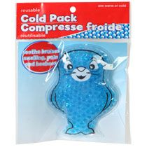 """These are SERIOUSLY the best! I keep a few in the fridge and a few in the freezer. If they get a little a little bump or bonk and need one, they can get them out of the fridge themselves. Has saved us a TON on """"emotional"""" bandaids.  Kids' Reusable Animal Shaped Cold Packs at DollarTree.com"""