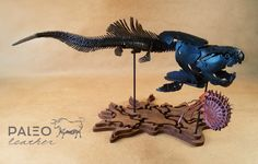 Waxed leather sculpted over wooden base- Dunkleosteus: bony placoderm fish ~Late Devonian period mya Dinosaur Skeleton, Dinosaur Fossils, Leather Art, Sea Monsters, Ammonite, Prehistoric, Sculpting, Period, Wax
