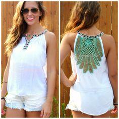 Neptune Mint Crochet Back Sleeveless Top Womens Sleeveless Tops, Summer Wear, Casual Chic, Tank Tops, My Style, Crochet, Lace, How To Wear, Mint