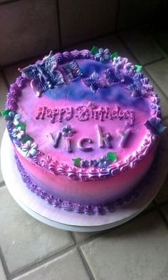 Birthday Cake Images With Name Vicky : Birthday stuff on Pinterest Birthday Cakes, Neon ...