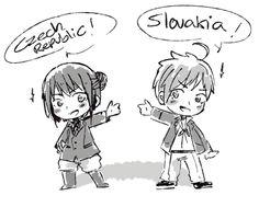 Hetalia Czech and Slovakia