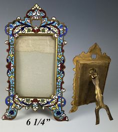 Antique Frames, Napoleon, French Antiques, Stained Glass, Old Things, Carte De Visite, Antique Picture Frames, Stained Glass Panels, Leaded Glass