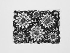 Sunflower ACEO art card design - Black and white pen and ink Artist Trading Card - Collectable miniature Art Card by deejavuart on Etsy