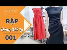 Học cắt may 001 - Thiết kế Rập đầm lệch vai- Kỹ thuật đóng mở ly - YouTube Sewing Patterns Free, Dress Patterns, Apron Patterns, Knot Dress, Wrap Dress, Leg Butt Workout, Historical Women, Historical Photos, Sewing Pants