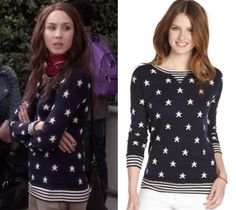 """Spencer's star sweater from Pretty Little Liars episode """"Miss Me Pretty Little Liars Episodes, Fashion Tv, Womens Fashion, Pretty Little Liars Fashion, Spencer Hastings, S Star, Cashmere, Actors, Stripes"""