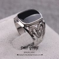 #Silver Filled Rings #Hollow Carving #Black Epoxy #Wedding #Rings For #Men http://hz.aliexpress.com/store/633939