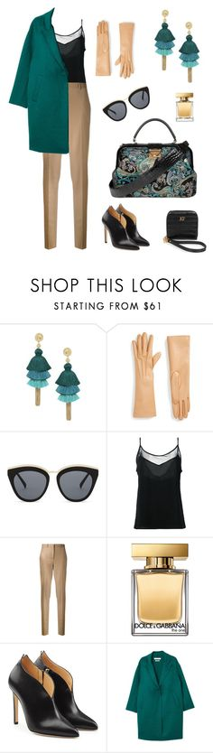 """Doctor bag Tapesty gold and turquoise"" by katerinafox on Polyvore featuring мода, STELLA McCARTNEY, Le Specs, Olympiah, Givenchy, Dolce&Gabbana, Chloe Gosselin и MANGO"